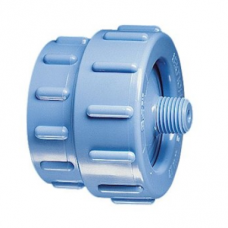 "In-line Filter Holder, PP Material,  for Ø47mm Filters, Silicone O-ring, Inlet and Outlet Combination 1/4"" NPTM and Female Luer-slip"