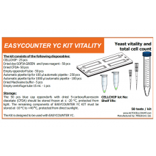 LACTOSCAN EASYCOUNTER Yeast Counter Vitality Kit for 50 Tests