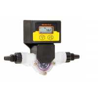 Bluewhite Micro-Flo Paddlewheel Flowmeter, 115V Models with 1/4'' F/NPT and Clear PVC Lens