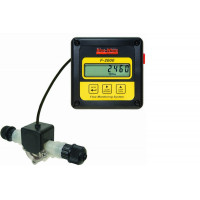 Bluewhite Micro-Flo Paddlewheel Flowmeter, 115V Models with 1/8'' F/NPT and Clear PVC Lens